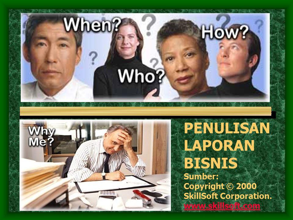 Definisi Laporan Bisnis (1) Adalah laporan faktual dan formal dengan tujuan bisnis menggunakan komunikasi obyektif baik berupa dokumen yang tersimpan di komputer maupun yang tercetak dalam bentuk memo, atau multi dokumen lainnya.