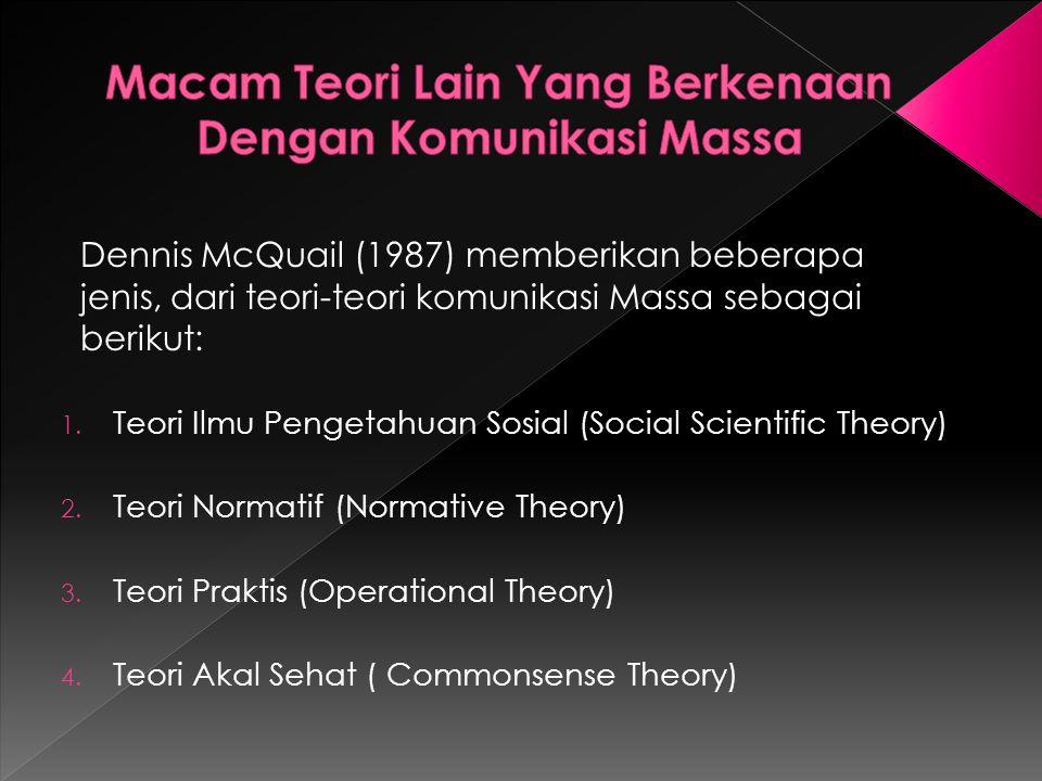 1.Teori Ilmu Pengetahuan Sosial (Social Scientific Theory) 2.
