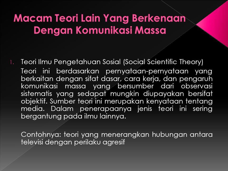 3.Teori Praktis (Operational Theory) Pada awalnya teori ini dikembangkan oleh para praktisi media.