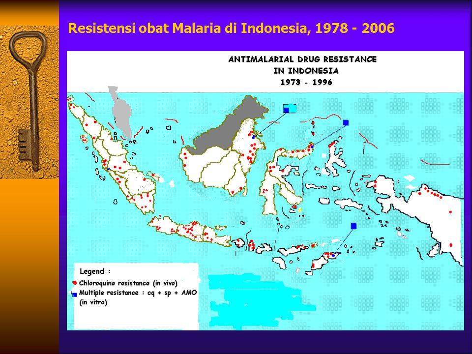 Resistensi obat Malaria di Indonesia, 1978 - 2006