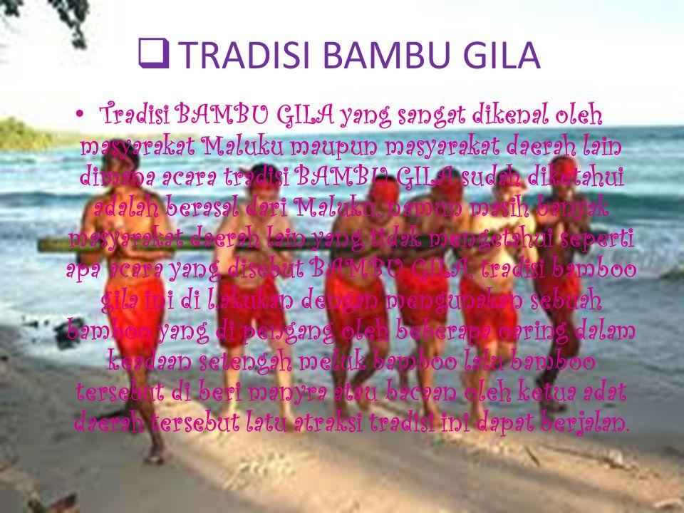  TRADISI PUKUL SAPU LIDI Salah satu acara tradisi yang masih dan terus diselenggarakan adalah PUKUL SAPU LIDI, yang dilaksanakan oleh Raja masyarakat