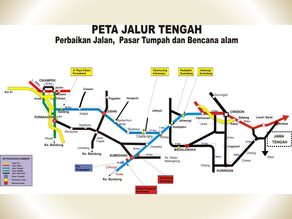 Lokasi Rawan Macet Jalur Tengah RES MAJALENGKA - JL.