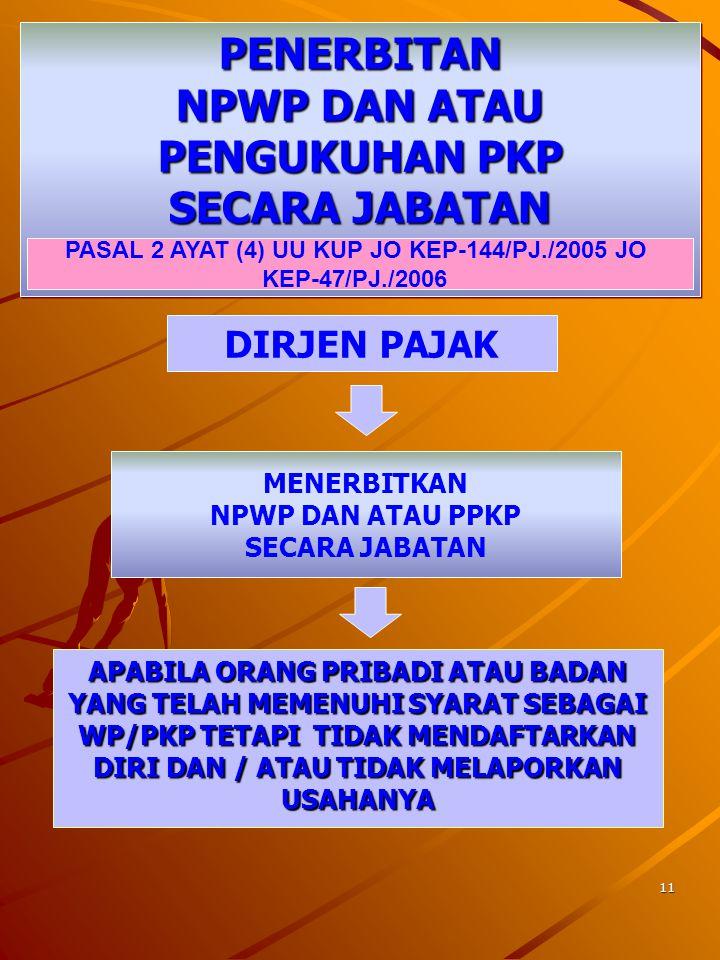 10 TEMPAT PENDAFTARAN & PELAPORAN WP / PKP TERTENTU Wajib Pajak BUMN, termasuk anak perusahaan yang penyertaan modal baik langsung maupun tidak langsu