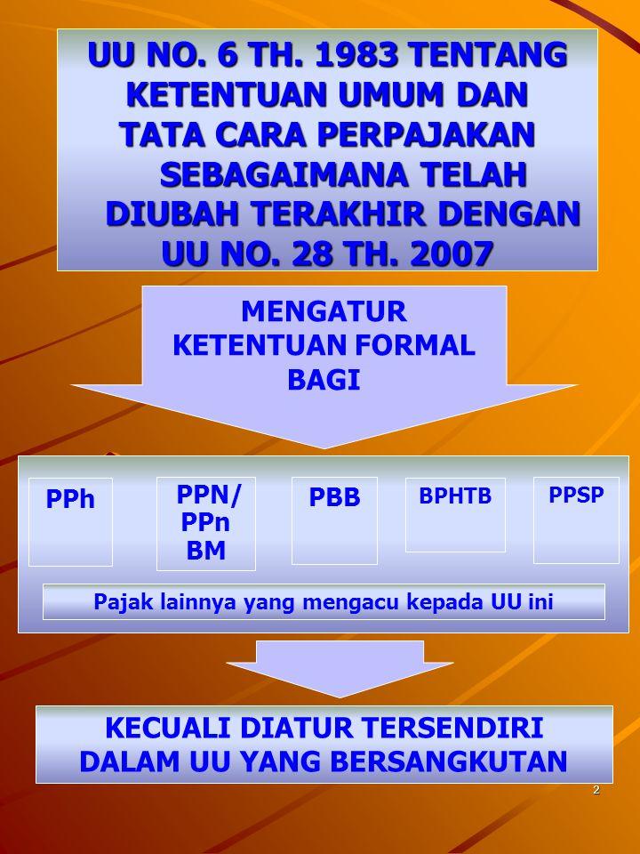 72 PENAGIHAN SEKETIKA & SEKALIGUS DILAKUKAN DALAM HAL :  PENANGGUNG PAJAK AKAN MENINGGALKAN INDONESIA UNTUK SELAMA-LAMANYA ATAU BERNIAT UNTUK ITU;  PENANGGUNG PAJAK MEMINDAHTANGANKAN BARANG YG DIMILIKI ATAU DIKUASAI DALAM RANGKA MENGHENTIKAN ATAU MENGECILKAN KEGIATAN PERUSAHAAN, ATAU PEKERJAANNYA DI INDONESIA;  TERDAPAT TANDA-TANDA BAHWA PENANGGUNG PAJAK AKAN MEMBUBARKAN BADAN USAHANYA, ATAU MENGGABUNGKAN USAHANYA, ATAU MEMEKARKAN USAHANYA, ATAU MEMINDAHTANGANKAN PERUSAHAAN YANG DIMILIKI ATAU YANG DIKUASAINYA, ATAU MELAKUKAN BERUBAHAN BENTUK LAINNYA;  BADAN USAHA AKAN DIBUBARKAN OLEH NEGARA;  TERJADI PENYITAAN ATAS BARANG PENANGGUNG PAJAK OLEH PIHAK KETIGA ATAU TERDAPAT TANDA-TANDA KEPAILITAN.