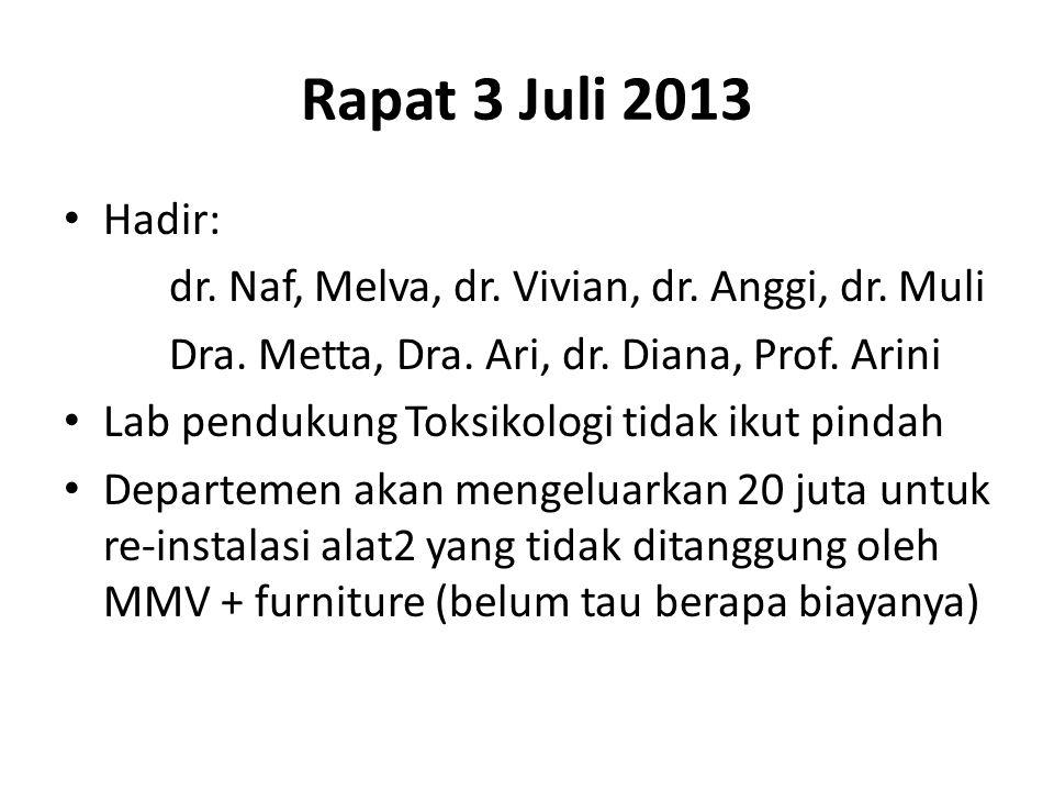 Rapat 3 Juli 2013 Hadir: dr. Naf, Melva, dr. Vivian, dr.