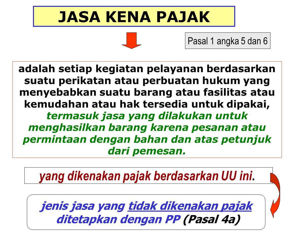 PP Nomor 144 tahun 2000 Jenis barang yang tidak dikenakan pajak UANG, EMAS BATANGAN, SURAT BERHARGA 4