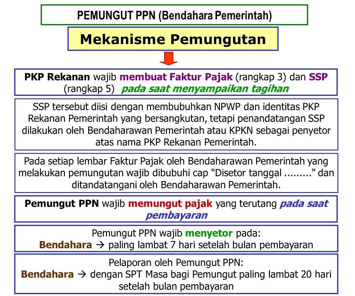 Dalam hal pembayaran berjumlah paling banyak Rp1.000.000,00 (termasuk PPN dan PPnBM) dan tidak merupakan jumlah yang terpecah-pecah, maka PPN dan PPnB