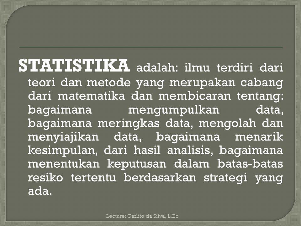 Apabila data dari suatu variabel akan dipergunakan dalam analisis statistika maka data itu harus tersusun dengan cara yang sistematis (teratur).