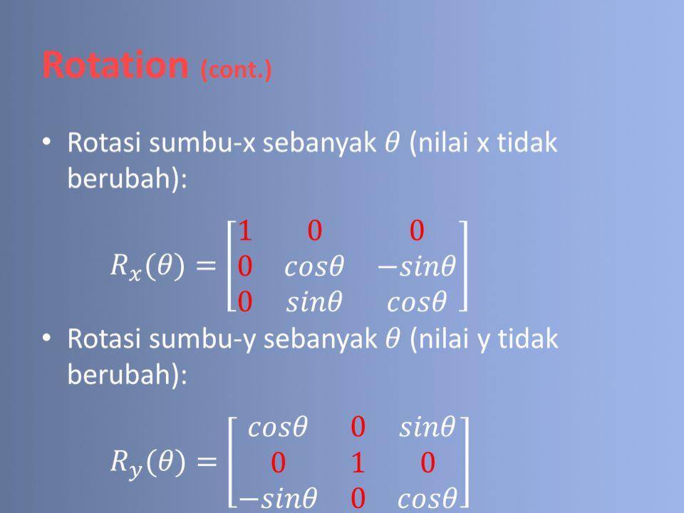 Rotation (cont.)
