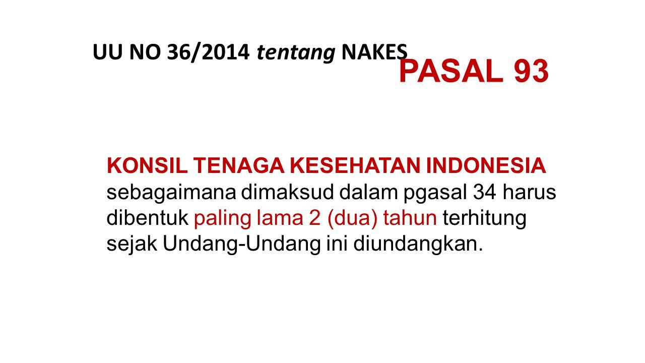KONSIL TENAGA KESEHATAN INDONESIA sebagaimana dimaksud dalam pgasal 34 harus dibentuk paling lama 2 (dua) tahun terhitung sejak Undang-Undang ini diun