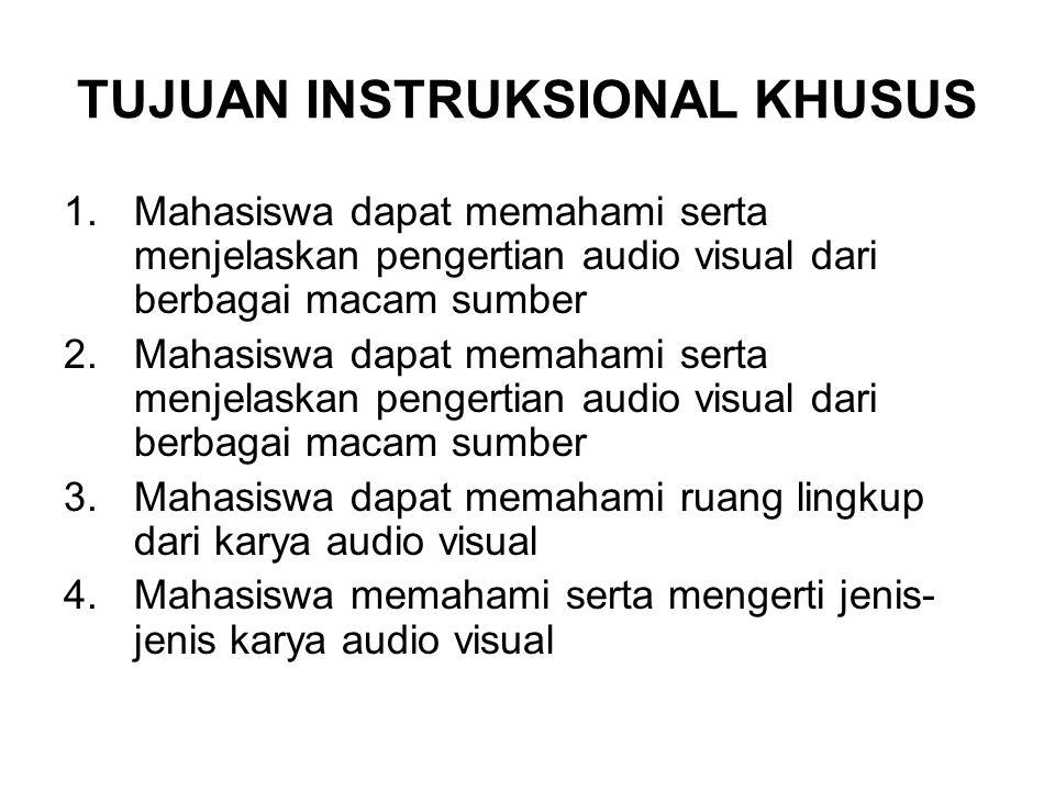 1.1 Pengertian Audio Visual Audio Visual berasal dari kata Audio yang berarti Suara dan Visual yang berarti Gambar Kata Suara disini mewakili dialog dari obyek (aktor), Narasi maupu background musik Kata Gambar disini mewakili rangkaian gambar bercerita bisa dalam bentuk rekaman video maupun pembautan obyek melalui pemodelan dan animasi baik secara 2D maupun 3D Jadi apabila kedua kata tersebut digabung maka terwujudlah kata Audio Visual yang mempunyai pengertian dasar yaitu gambar-gambar bergerak dan bersuara