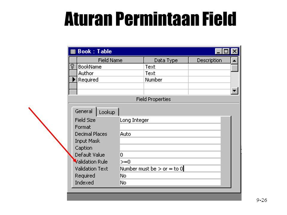 Aturan Permintaan Field 9-26