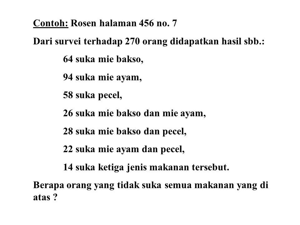 Contoh: Rosen halaman 456 no.