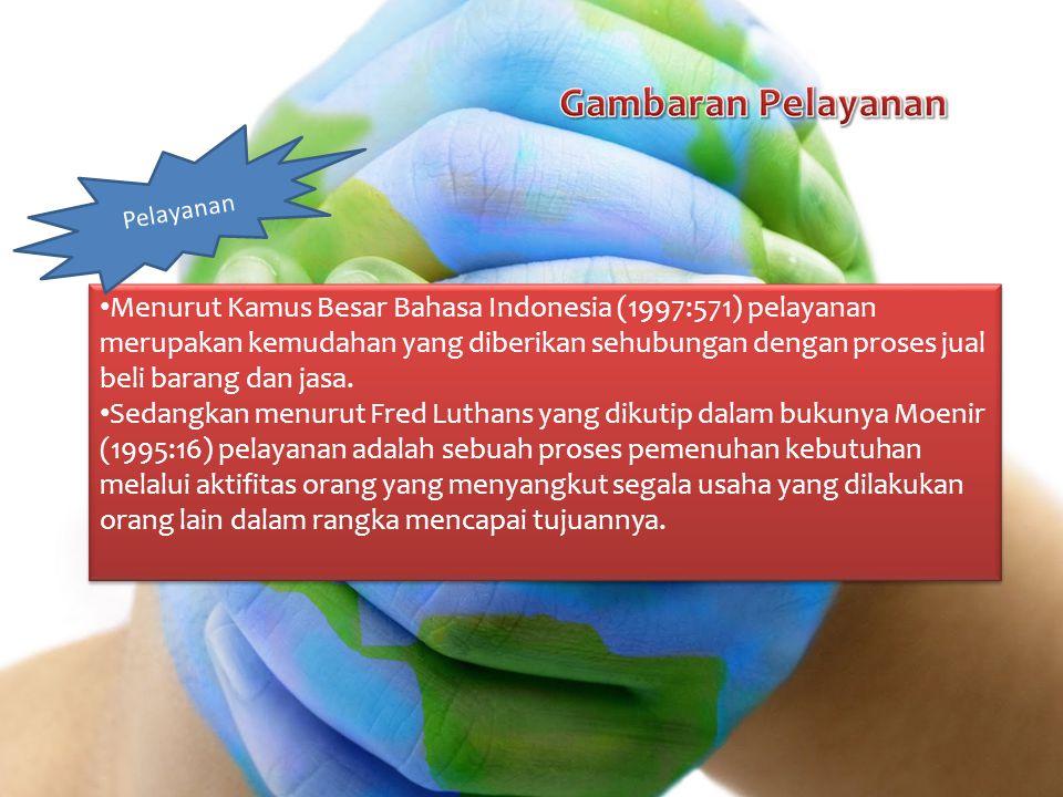 Menurut Kamus Besar Bahasa Indonesia (1997:571) pelayanan merupakan kemudahan yang diberikan sehubungan dengan proses jual beli barang dan jasa. Sedan