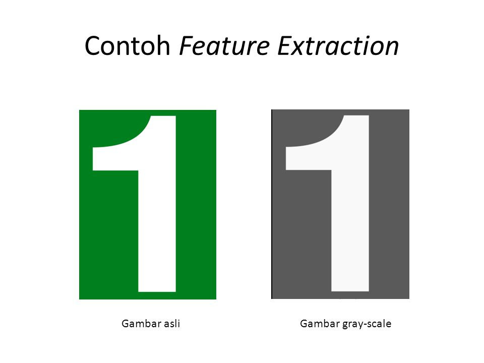 Contoh Feature Extraction Gambar asliGambar gray-scale