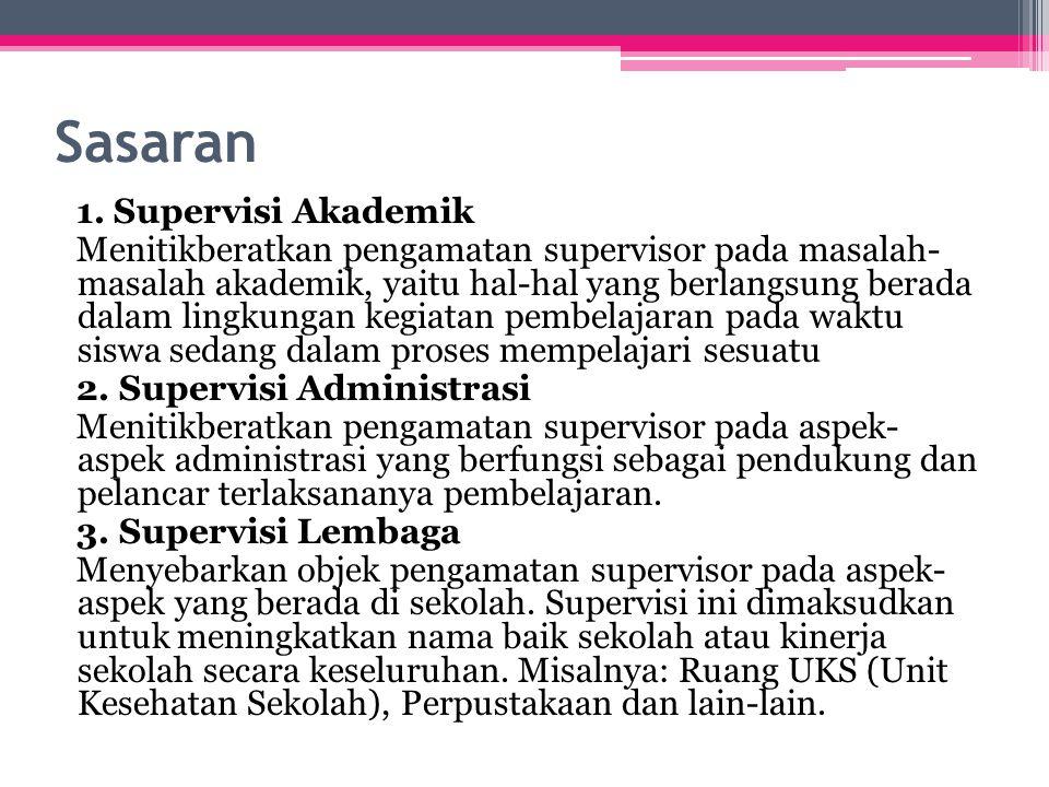 Prinsip-prinsip Supervisi 1.