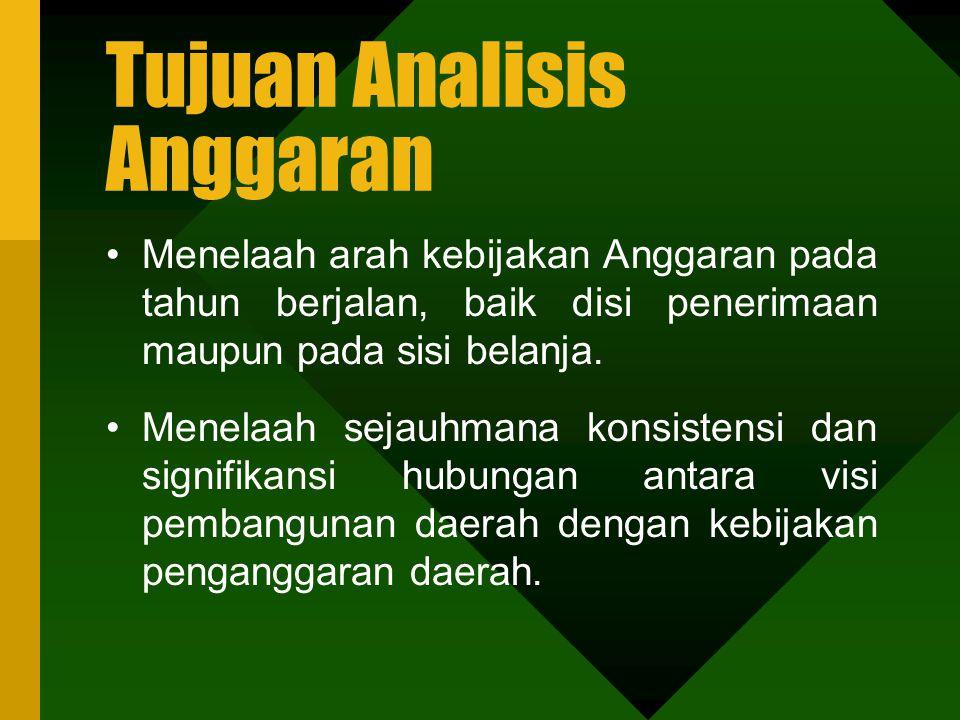 Pengertian Analisis Anggaran Analisis adalah suatu kegiatan untuk mempelajari obyek atau masalah melalui pemikiran yang logis, meliputi keadaan dan un