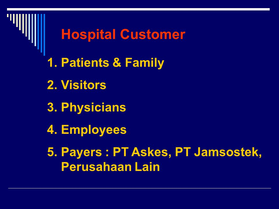 Examples of Customer Satisfaction Your Service Rawat Inap/PoliklinikAdmission Office FulfilMedis,Greetings & basic needsNursing,Information Service FulfillCepat, TepatSmile & expectationsRamah, ProfessionalWarm Exceed Professional, Well informed, expectationsKasihKnow your name