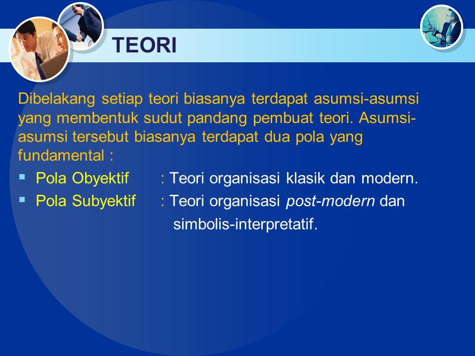 ORGANISASI Organisasi : Bahasa Yunani organon yang berarti alat (tool),.