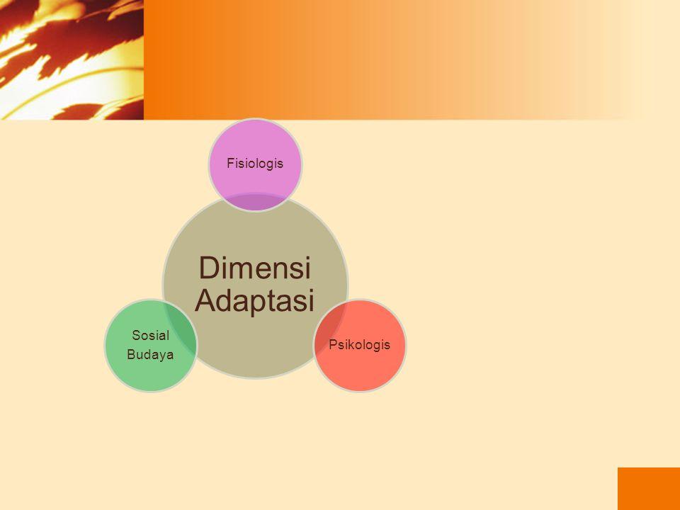 Adaptasi adalah hasil akhir dari koping. Adaptasi merupakan dasar keseimbangan dan pertahanan terhadap stress. Beradaptasi artinya memodifikasi situas
