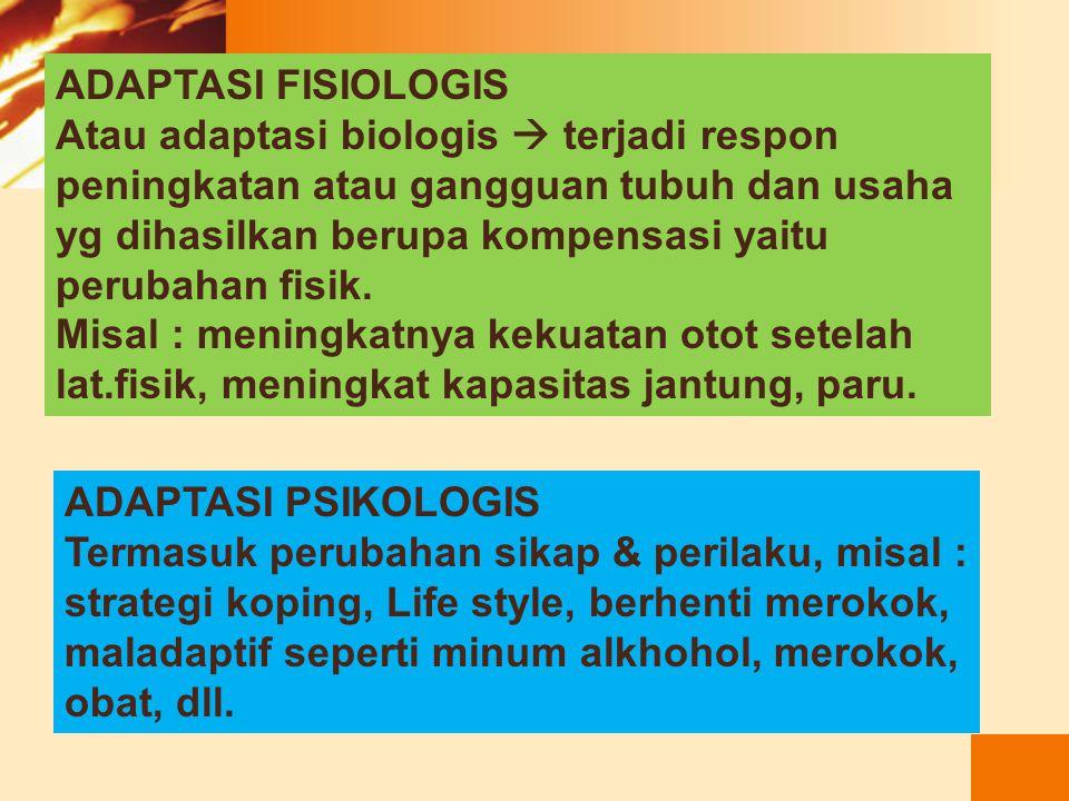 Dimensi Adaptasi FisiologisPsikologis Sosial Budaya