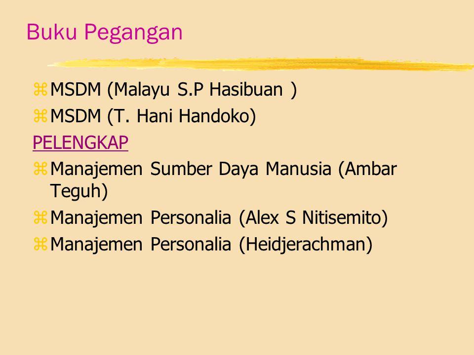 Buku Pegangan zMzMSDM (Malayu S.P Hasibuan ) zMzMSDM (T.