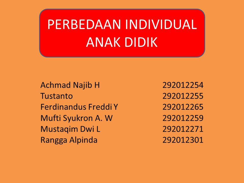 Achmad Najib H292012254 Tustanto292012255 Ferdinandus Freddi Y292012265 Mufti Syukron A. W292012259 Mustaqim Dwi L292012271 Rangga Alpinda292012301 PE