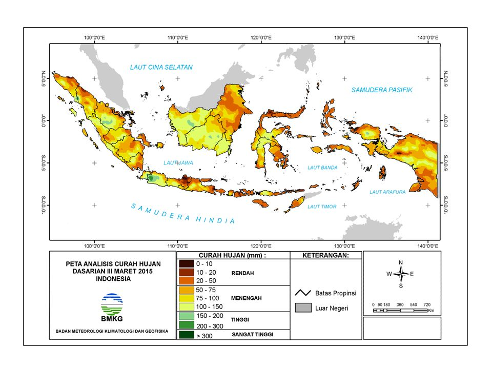NORMAL El Nino Kuat El Nino Moderate El Nino Lemah La Nina Lemah La Nina Moderate La Nina Kuat Aliran massa uap air dari Indonesia  Samudera Pasifik Aliran massa uap air dari Samudera Pasifik  Indonesia BMKG PREDIKSI ENSO OLEH 3 INSTITUSI INTERNASIONAL DAN BMKG (UPDATE 02 APRIL 2015) INSTITUSIApr-15May-15Jun-15Jul-15Aug-15 NCEP/NOAA0.85111.11.15 Jamstec0.8 0.951.1 BoM0.71.021.251.391.48 BMKG0.680.620.730.790.77 Prediksi ENSO: 1.