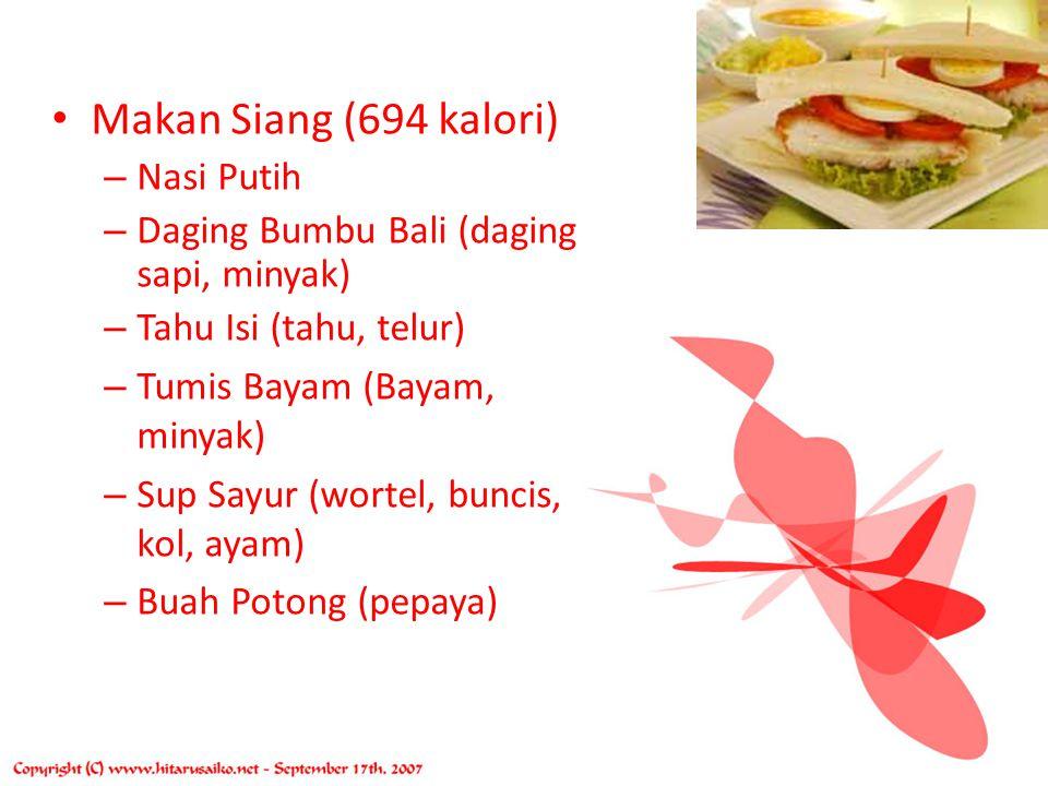 CONTOH MENU IBU HAMIL Makan Pagi (520 kalori) – Nasi Goreng (nasi, ayam, telur, kacang polong, ketimun, slada) – Juice Buah (Melon) Snack (126 kalori)