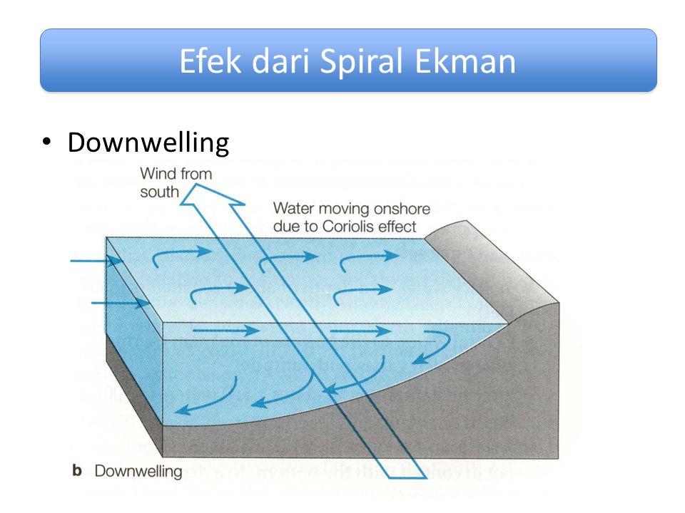 Downwelling Efek dari Spiral Ekman