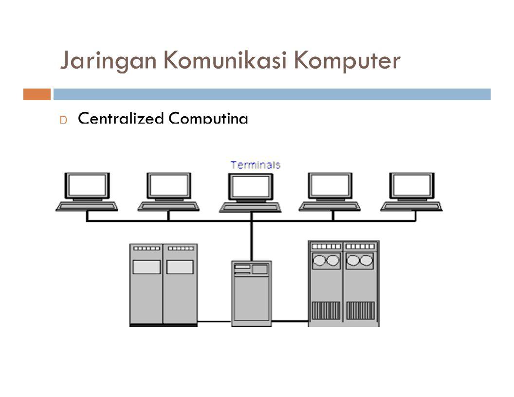 Jaringan Komunikasi Komputer D Centralized Computing