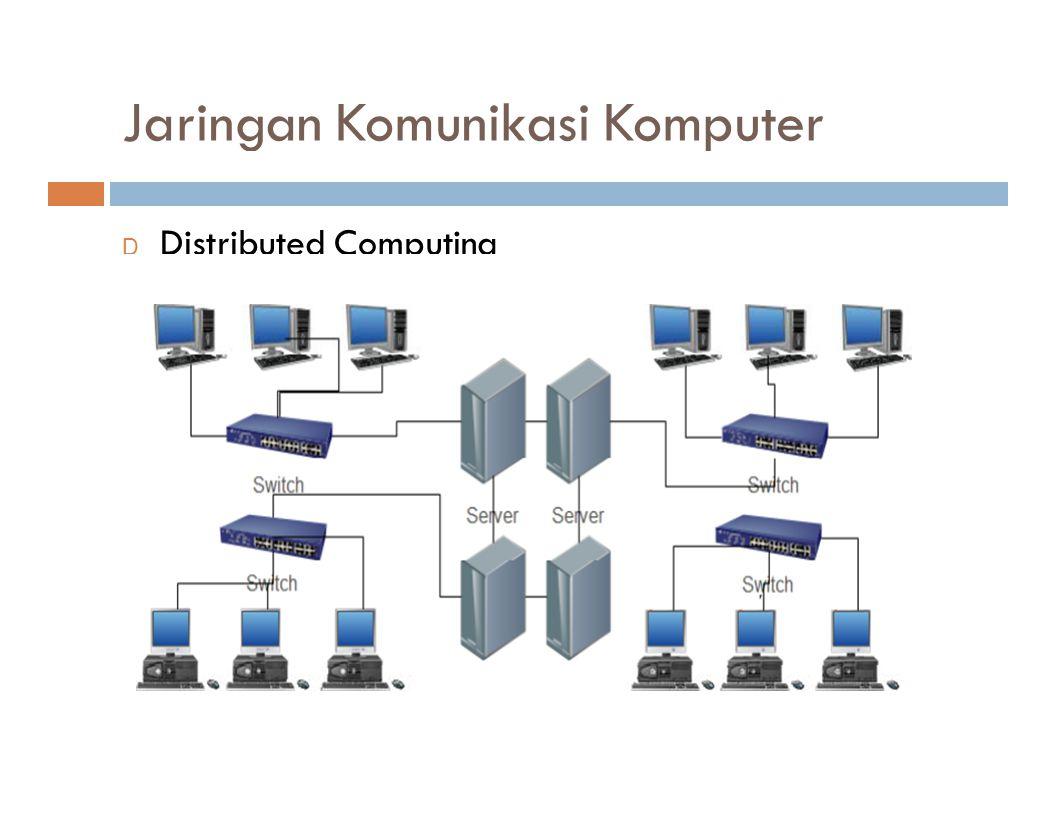 Jaringan Komunikasi Komputer D Distributed Computing