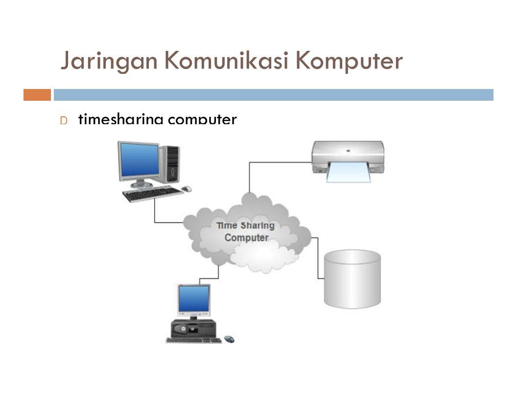 Jaringan Komunikasi Komputer D timesharing computer