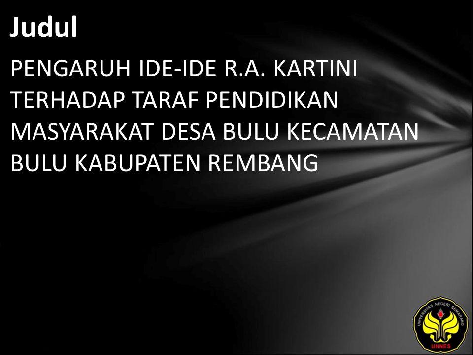 Judul PENGARUH IDE-IDE R.A.