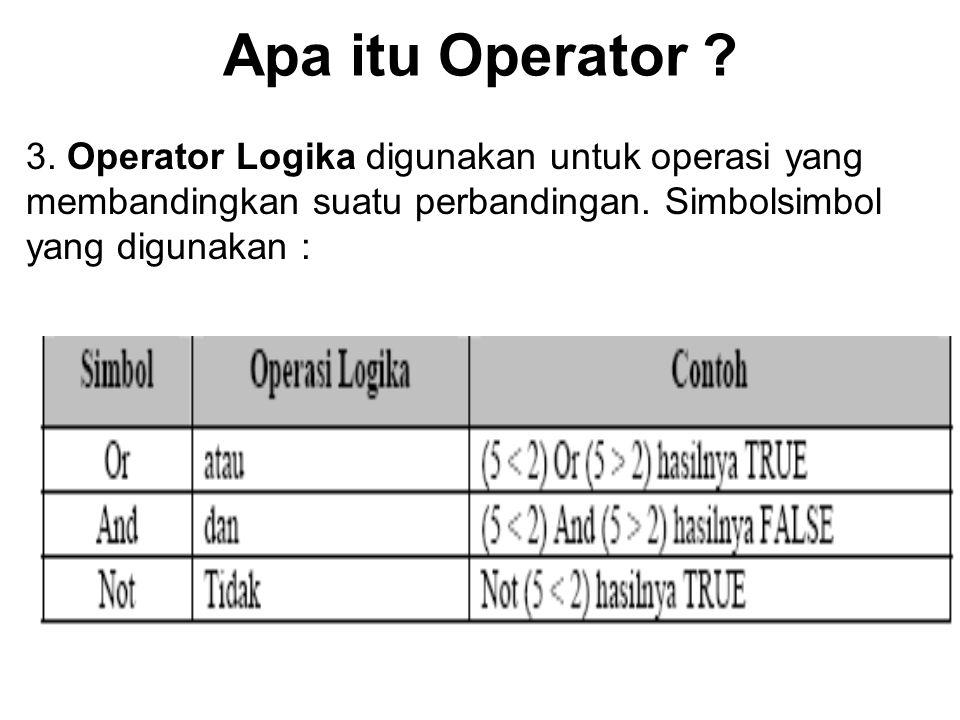 Apa itu Operator .3.