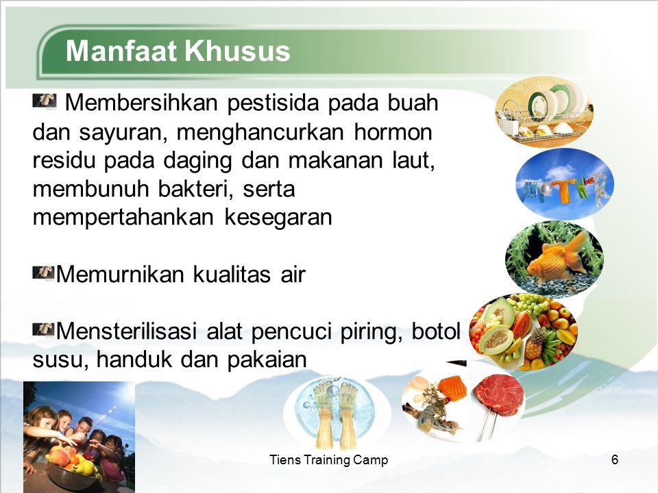 2015-7-18Tiens Training Camp6 Manfaat Khusus Membersihkan pestisida pada buah dan sayuran, menghancurkan hormon residu pada daging dan makanan laut, m