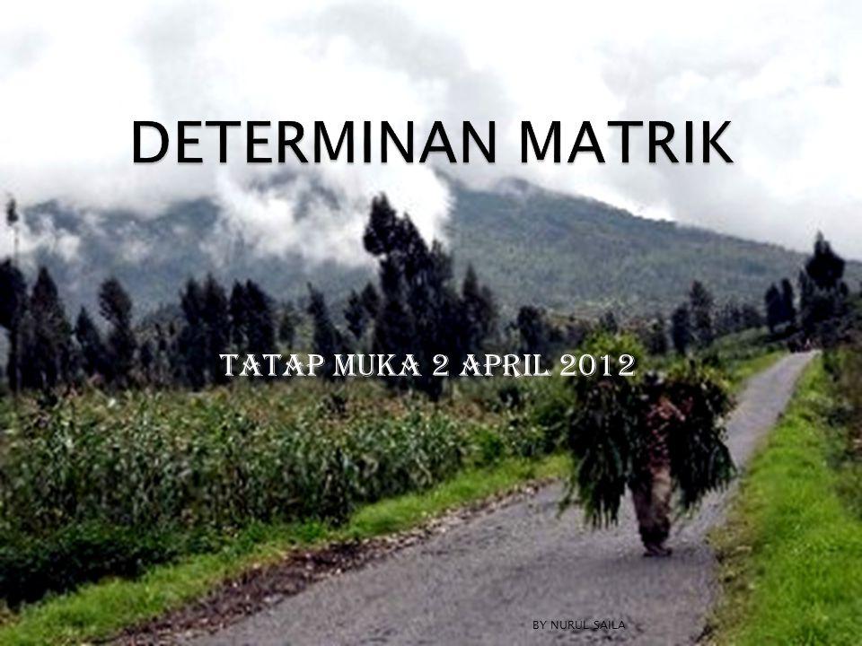  Tentukan determinan dari matrik berikut menggunakan definisi: