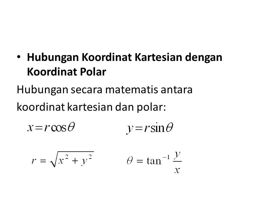 Hubungan Koordinat Kartesian dengan Koordinat Polar Hubungan secara matematis antara koordinat kartesian dan polar: