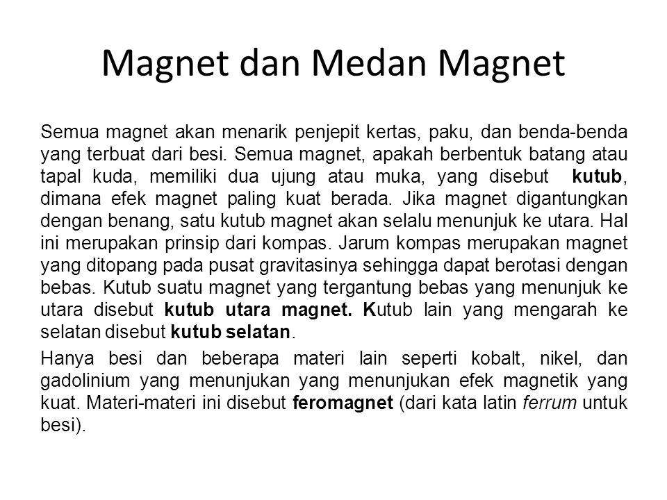 Gaya pada muatan listrik yang bergerak di medan magnet F = qvB sin θ Persamaan ini memberikan besar gaya pada partikel muatan q yang bergerak dengan kecepatan v pada kuat medan magnet B, dimana θ adalah sudut antara v dan B.