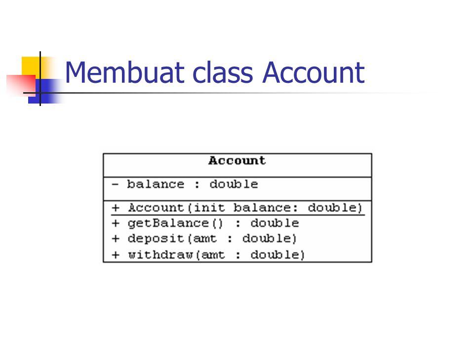 Membuat class Account