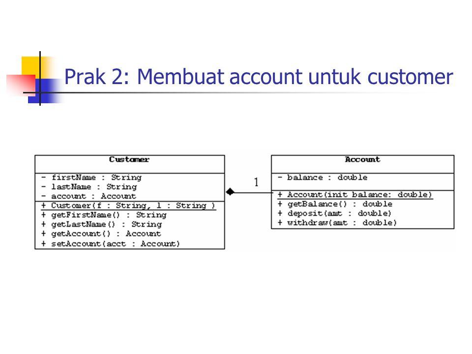Prak 2: Membuat account untuk customer 1
