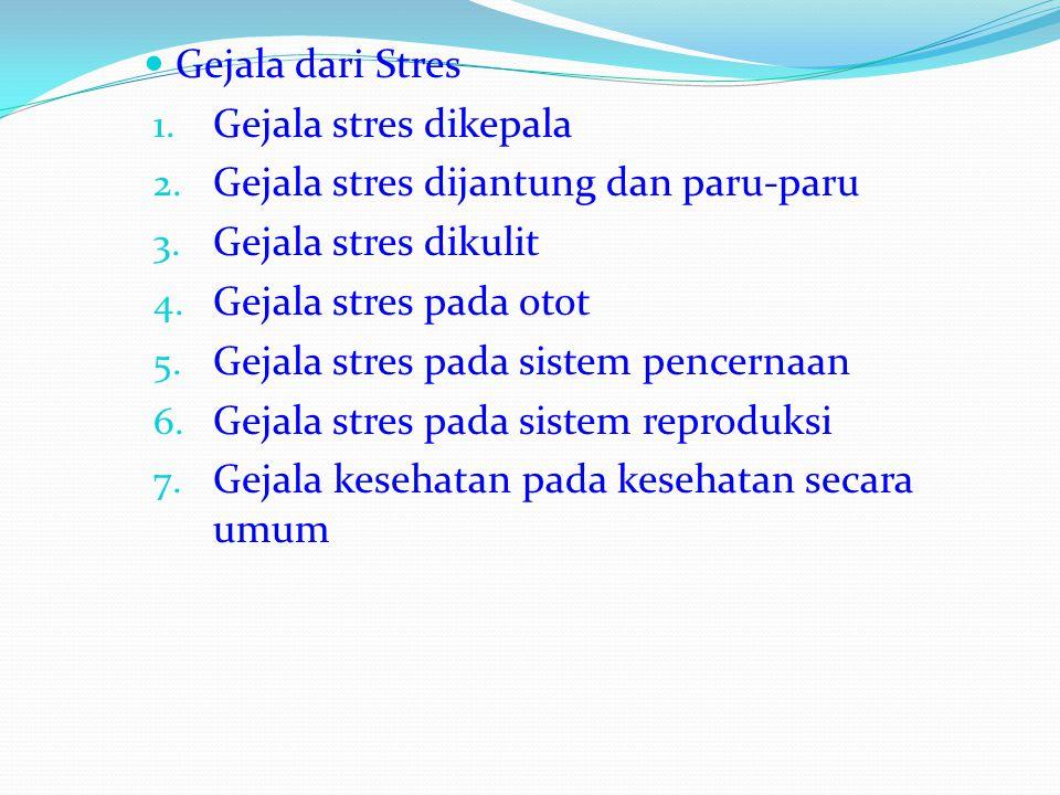 Cara mengurangi stres 1. Refraiming 2. Lihat gambaran besarnya 3. Atur standar anda