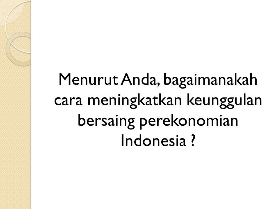 Daya saing Ekonomi Indonesia
