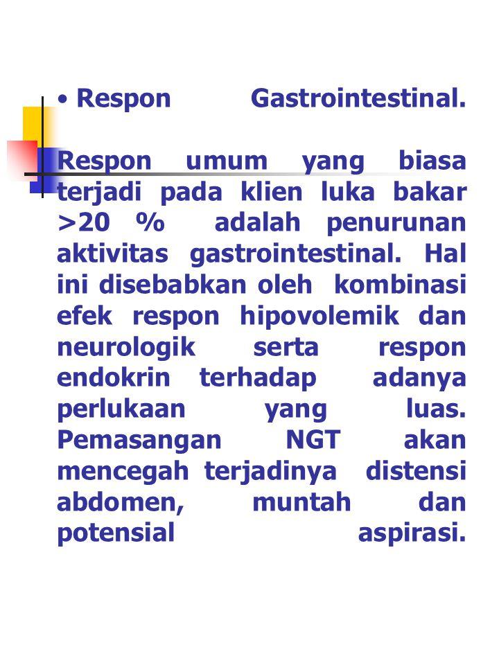 Respon Immunologi: Respon immunologi dibedakan dalam dua, yaitu : 1.