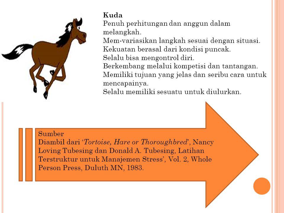 Kuda Penuh perhitungan dan anggun dalam melangkah.