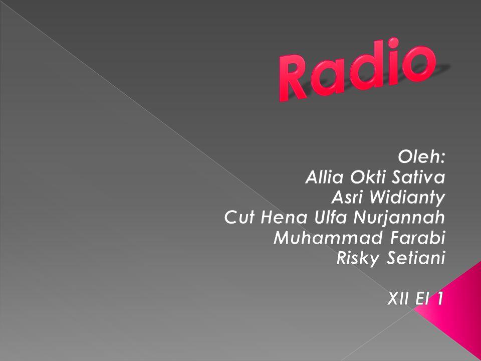 Radio siaran adalah pemancar radio yang menyiarkan informasi, musik, berita, dan lagu.