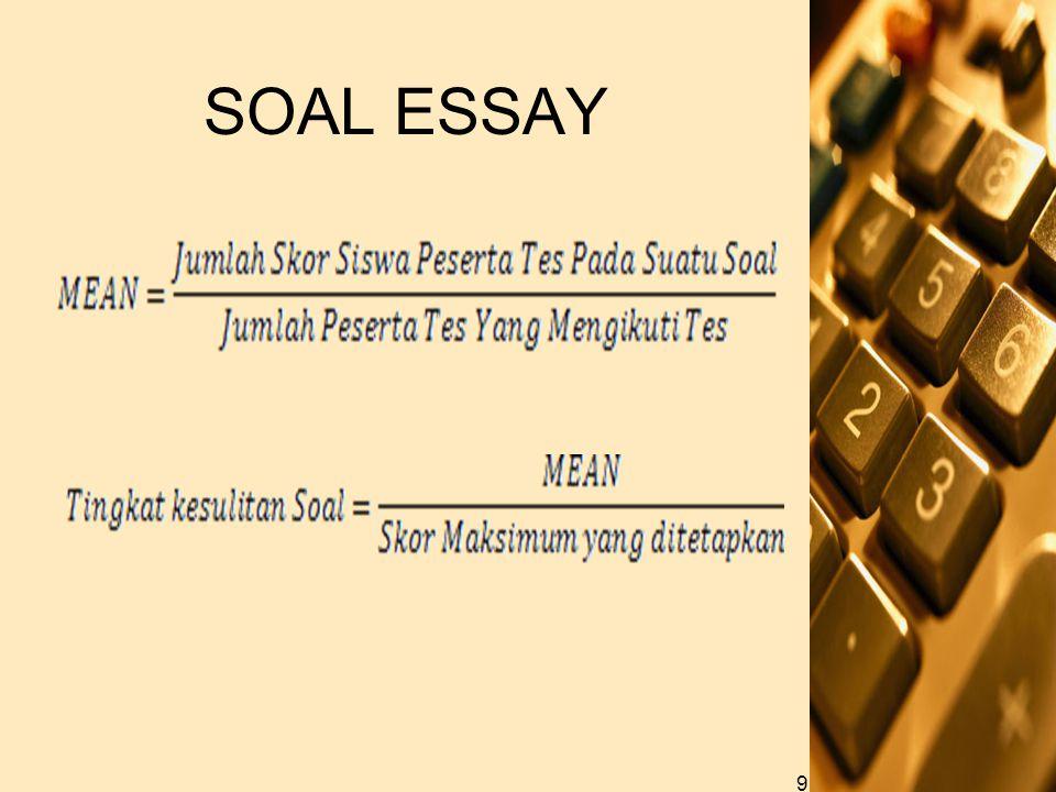 SOAL ESSAY 9
