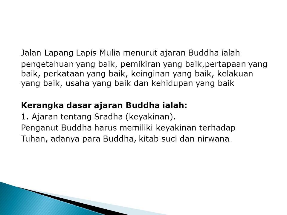 Agama Buddha Pengajaran Buddha diasaskan oleh Siddartha Gautama. Menurut ajaran Buddha, terdapat Empat Kebenaran Mulia atau etika yang diperjuangkan i