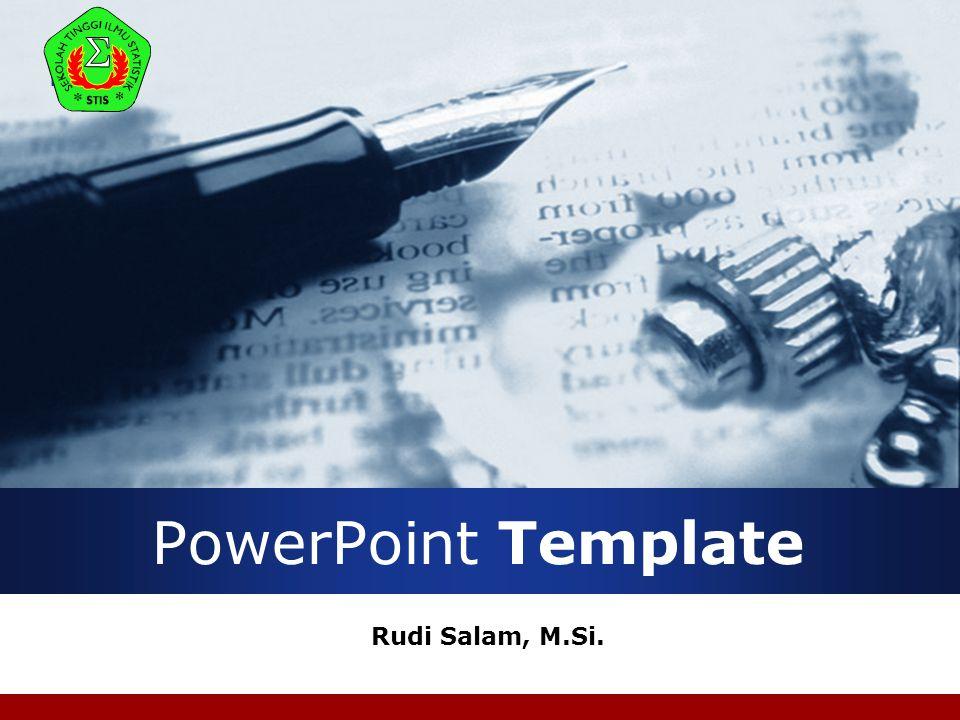 Company LOGO PowerPoint Template Rudi Salam, M.Si.