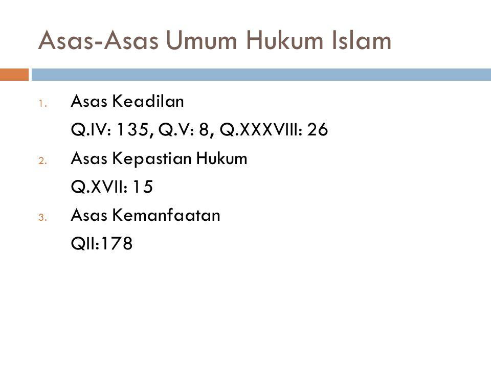  Tujuan Instruksional Umum:  Agar mahasiswa memahami Asas-Asas dalam Hukum Islam  Tujuan Instruksional Khusus:  Agar Mahasiswa dapat menjelaskan A